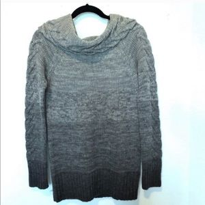 The Limited cowl neck Gray ombré oversized sweater